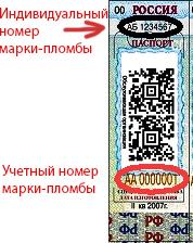 Марка-пломба ККТ. Пример заполнения КНД 1110021